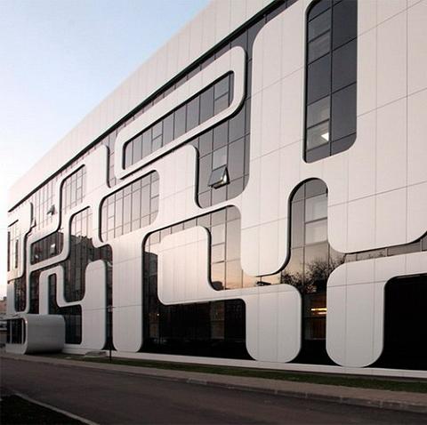 Композитные фасадные панели из алюминия