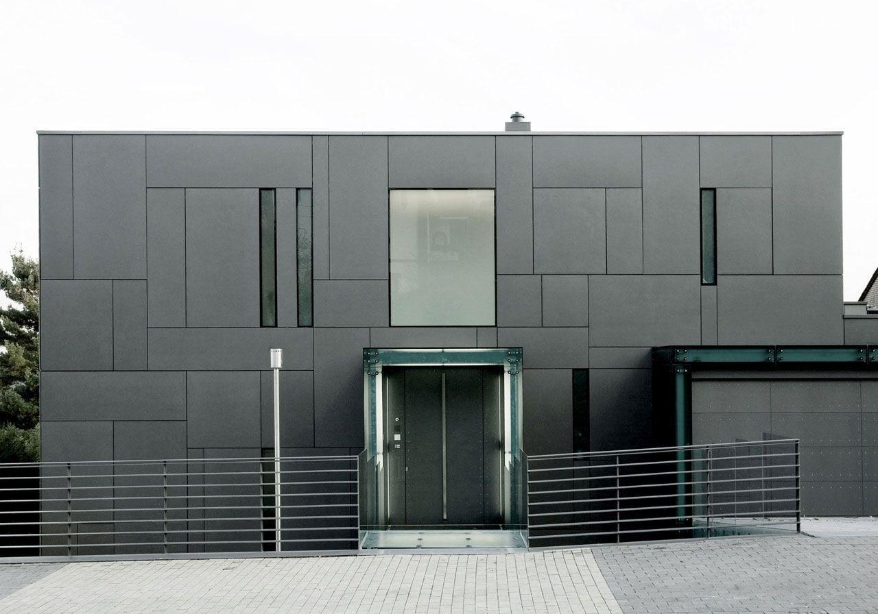 Фиброцементные панели фасада здания